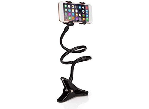RANDIYI Soporte para teléfonos móviles, Soporte de Cama Flexible: Adecuado para teléfonos móviles con un Ancho de 90 mm o Menos, el Soporte de Clips Ajustable Perezoso 360 para teléfonos Inteligentes