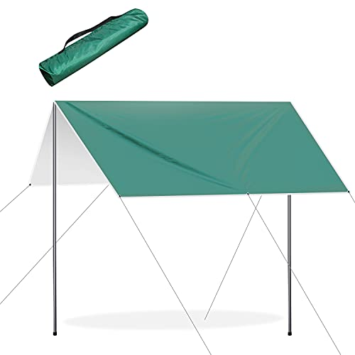 Toldo Vela Rectangular 3x3m, Lona Suelo Camping Anti-UV...