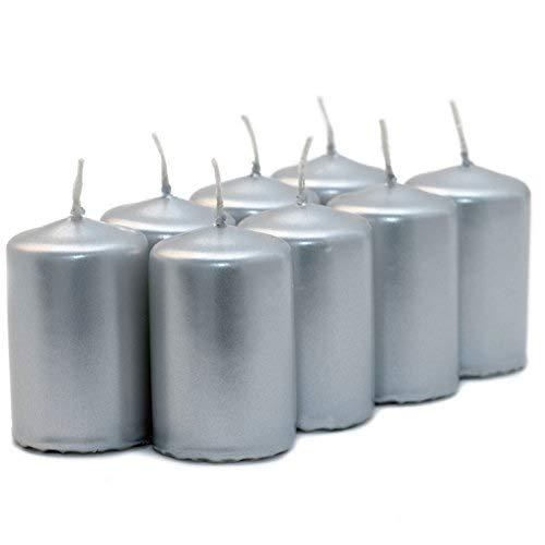Aura Velas metálicas Plateadas (40 mm x 60 mm)