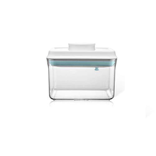 QFLY Tarros Cocina Almacenamiento Cajas de Almacenamiento Cuadro de contenedor de Almacenamiento de Grano contenedor de Almacenamiento de plástico for Alimentos Secos y líquidos Botes Cristal Cocina