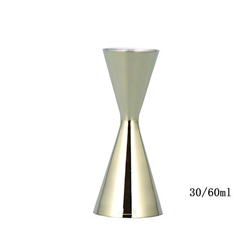 Doseur En Acier Inox Cocktail Mesure Alcool Jigger Single Double Verre Bar30/60ml FENGMING (Couleur : Or, taille : 30/60ml)