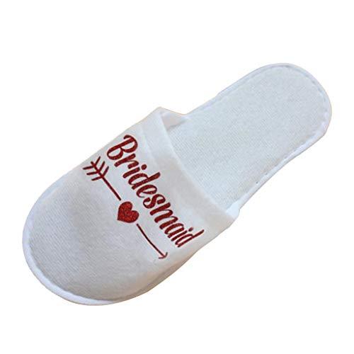 IPOTCH Zapatillas de Novia de Forro Polar Caliente Pantuflas de Estar por...