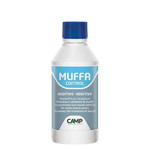 Camp MUFFA CONTROL ADDITIVO, Anti-muffa, Anti-alga concentrato per idropitture, Previene la formazione della muffa