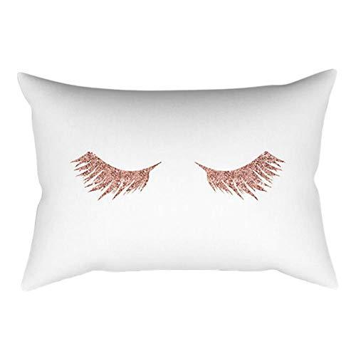 WSNBB 30cm * 50 centímetros Caso Rosado Minimalista de Color Rosa de algodón Almohada de Oro de la Lona de la Toma de Habitaciones cojín del sofá,B,EE.UU.