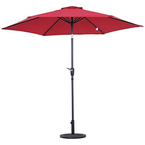 Outsunny 2.7m Patio Garden Umbrella Outdoor Parasol with Crank and 38mm...
