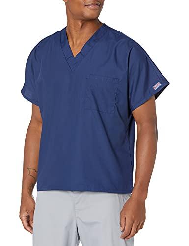 Cherokee Originals Unisex V-Neck Scrubs Shirt, Navy, Large