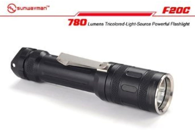 Sunwayman F20C mit XM-L2 LED, 720 Lumen TricolGoldt-Light-Quelle leistungsstarke Taschenlampe