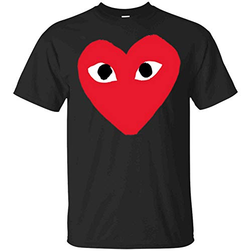 Heart-for-Comme-Lovely-in-The-Des-Gift-T-Shirt-of-Garcon-Tee (Unisex T-Shirt;Black;L)