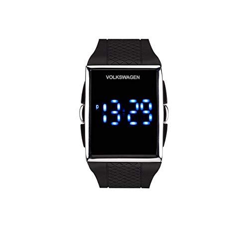 Volkswagen 000050800GYCC Reloj de Pulsera LED Negro, Extra-Large