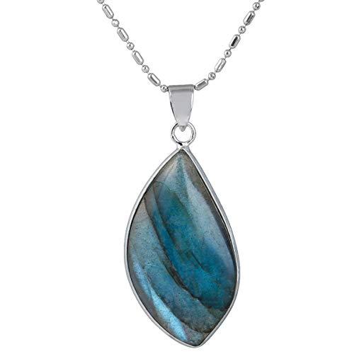 Colgante de cristal de labradorita natural Mookaitedecor, collar de piedras semipreciosas curativas