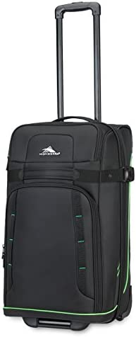 High Sierra Evanston Softside Upright Luggage Black Lime Green 25 Inch product image