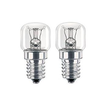Pack of 2, 15w, SES, E14 SPARES2GO Pygmy Light Bulb Lamp for Lamona Oven Cooker
