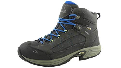 McKINLEY Bottes de Trekking Denali Mid AQX II, Climbing Shoe Homme, Grey Dark Blue Roya, 43.5 EU