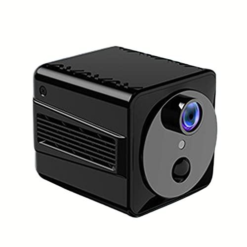 SXTYRL Telecamera Spia, Automatica, Microcamera, Visualizzazione Grandangolare, Microcamere Spia, per Interno Ufficio, Allarme (Color : Black, Size : 0G)