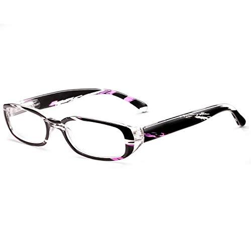 ROSA&ROSE Gafas Ordenador Anti luz Azul Marco de Rectángulo Gaming PC Azul luz Filtro Proteccion Gafas Evita la Fatiga Ocular para Mujer Hombre - Bisagras Resorte/Lentes Transparentes