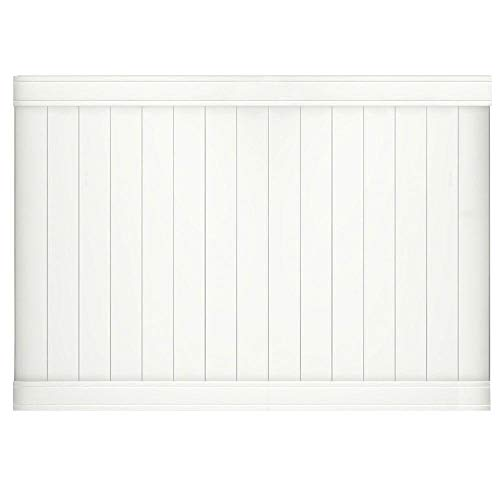 Outdoor Essentials Pro Series Lakewood White Vinyl Privacy Fence Panel, 6 Ft. x 8 Ft.