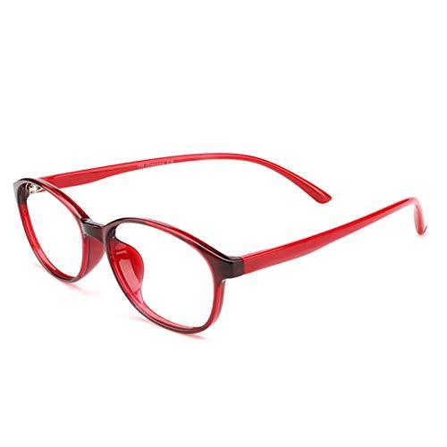 CAOXN Gafas de Lectura de luz Anti Azul sin Marco para Hombres y Mujeres Ultra Light Titanium Pure Titanium Presbyopia Hyperopía Fuerza de Lupa Gafas ópticas,Rojo,+1.50