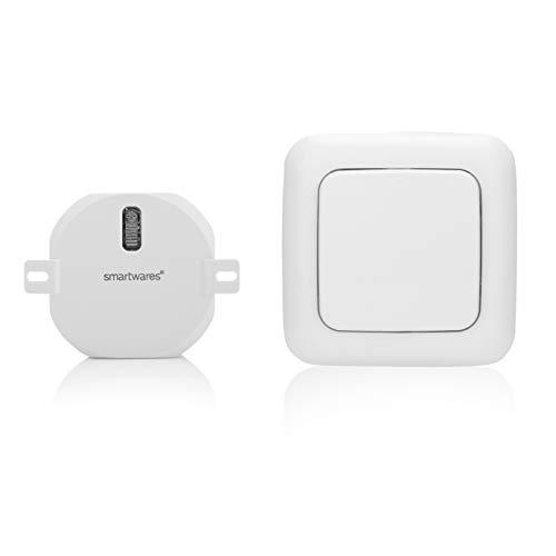 Smartwares SH5-SET-RD Funk-Wandschalter und Rolladen Einbauschalter Set, Weiß, Schalter| 1x Empfänger