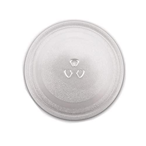 YooSz Turnato De Microondas Microondas Piezas De Horno Placa De Vidrio Universal 24.5cm Diámetro Tipo Y M1-211A 21L Bandeja De Cristal De Microondas