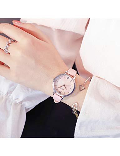 FDIJM Ulzzang Top Brand Fashion Damenuhren Marmor Zifferblatt Frauen Uhr Dünne Beiläufige Lederband Uhr Reloj Mujer Geschenke Gifts Pink