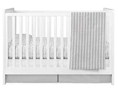 Ely's & Co. Baby Crib Bedding Sets for Boys and Girls — 4 Piece Set Includes Crib Sheet, Quilted Blanket, Crib Skirt and Baby Pillowcase — (Bamboo Design in Grey) (Grey Bamboo)