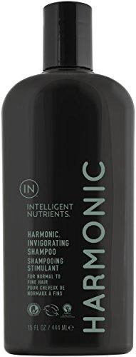 Intelligent Nutrients Harmonic Invigorating Shampoo - Non-Toxic Shampoo with Peppermint & Spearmint Oil - New Look, Same Tingle (15 oz)