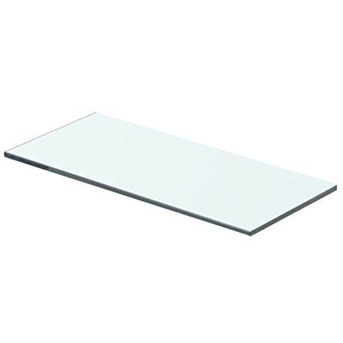 yorten Regalboden Glas Transparent Glasboden Einlegeboden Glasablage Glasregal Ersatzteile 8 mm (40 x 12 cm)