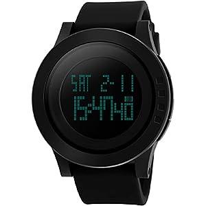 Kolpsy 1142 Big dial S-Shock Digital Black Men's Watch