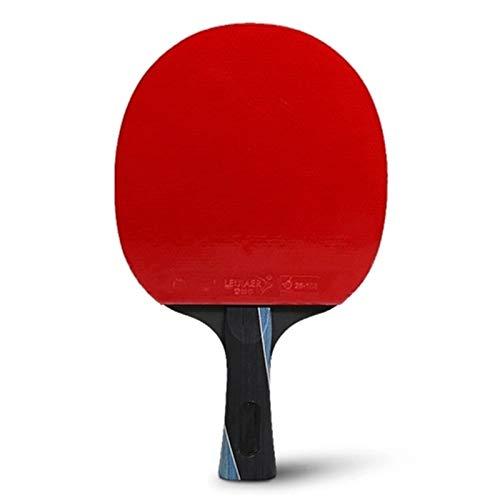 BTTNW Paleta De Ping Pong Oxford Que Lleva la Bolsa de la Mesa de la Mesa de la Mesa de Pong de Pong Profesional Se Dan La Mano Grips (Color : Red, Size : One Size)