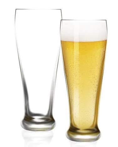 [Paquete de 6, 470ml/16oz] DESIGN•MASTER-Vasos Pilsner Premium, Vaso Pilsner Estilo Pub Británico, Vasos Para Beber Cerveza, Vaso De Cerveza Pub.