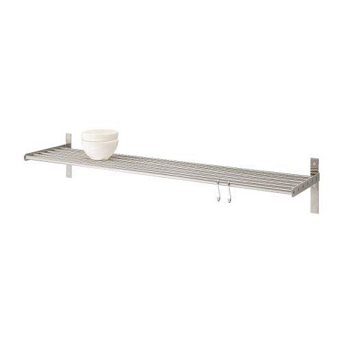 Ikea Grundtal Wall shelf, stainless steel, 31 1/2 inch