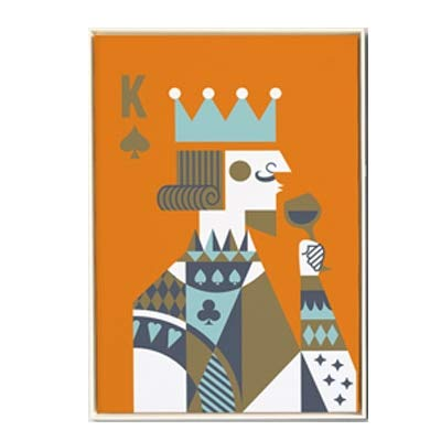 N / A Abstract Poker King and Queen Canvas Painting Mural Nordic Poster for Living Room Home Furnishing Frameless Decorative Canvas Painting A115 60x80cm