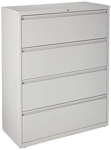 Lorell 4-Drawer Lateral File, 42 by 18-5/8 by 52-1/2-Inch, Gray