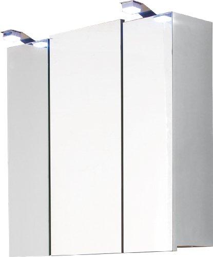 Posseik 5423 76 - Armadietto a Specchio Santana, Colore: Bianco