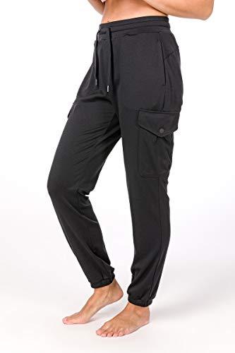 super. Natural Pantalon de W Cargo en Laine mérinos L Jet Black