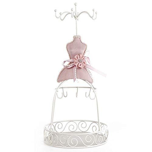 TMISHION Schmuck Display-Lady Modell Kleid Schuhe mit hohen Absätzen Ohrring Halskette Ring Schmuckständer Display Prinzessin Kleid Halskette Schmuckständer Halter für Frauen (Eisengestell)