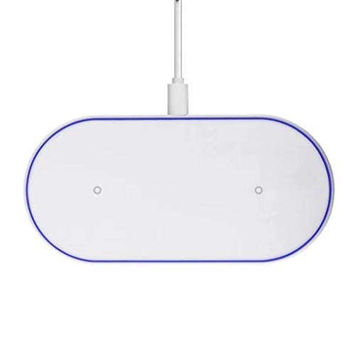 D100 Snelle draadloze oplader Pad Qi draadloze oplader Dual 10W Dual 7.5W Wireless Charging Base