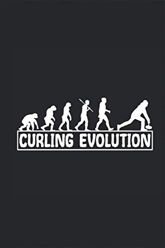 Curling Evolution Affen zum Curler Notizbuch: eistockschießen eisschießen Notieren Rechenheft Liniert Journal A5 120 Seiten 6x9 Heft Skizzenbuch Tagebuch Geschenk für stocksportler stockschütze