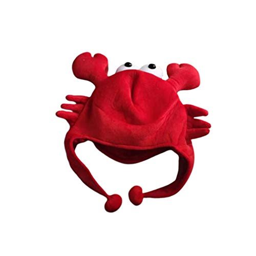Buy NUOBESTY Crab Hat Funny Party Hat Plush Animal Cap Headwear Sea Animal Costume Accessories Party Cosplay Dress Up 36 45CM