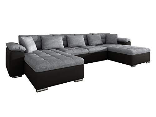 Mirjan24 Ecksofa Wicenza! Design Big Sofa Eckcouch Couch! mit Schlaffunktion Bettfunktion! Wohnlandschaft! U-Form, Große Farbauswahl (Soft 011 + Bristol 2460)