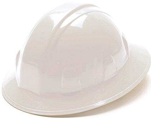 Pyramex White Full Brim Hard Hat