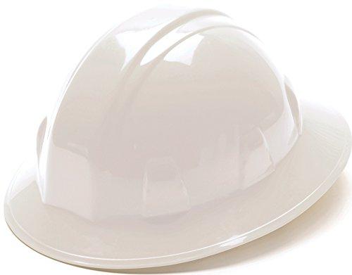 Pyramex White Full Brim Hard Hat with 4pt Suspension