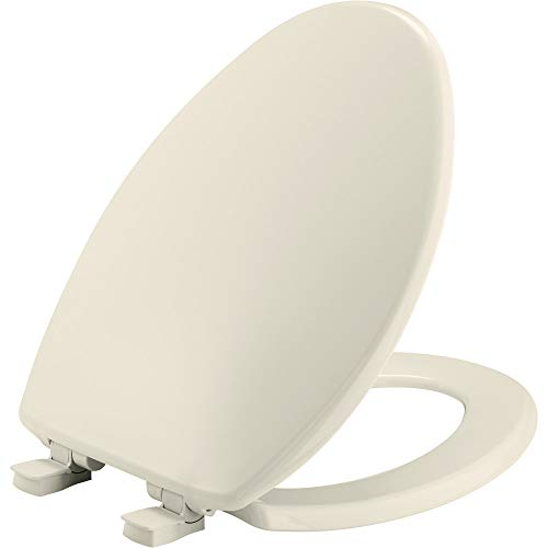 BEMIS 7300SLEC 346 Toilet Seat will Slow Close and Removes Easy for Cleaning, ELONGATED, Biscuit/Linen