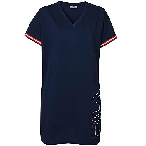 FILA Maxi T-shirt en jersey pour femme. - Gris - S