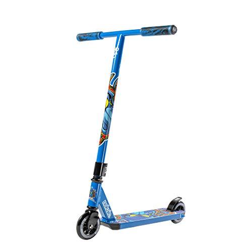 Nokaic Animal Trottinette Scooter Freestyle Niveau Pro Initiation Professionnelle pour Enfants de 5 à 10 ans Bleu
