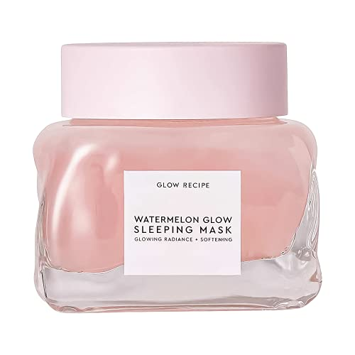 Glow Recipe Watermelon Glow Sleeping Mask - Hydrating Overnight Mask for Face with Hyaluronic Acid, AHA + Amino Acid-Rich Watermelon Extract - Cruelty-Free + Vegan Skincare (80ml / 2.7 fl oz)