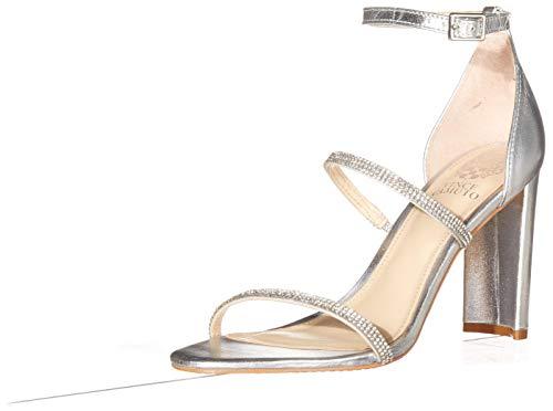 Vince Camuto Women's Fairah Heeled Sandal, Silver, 7