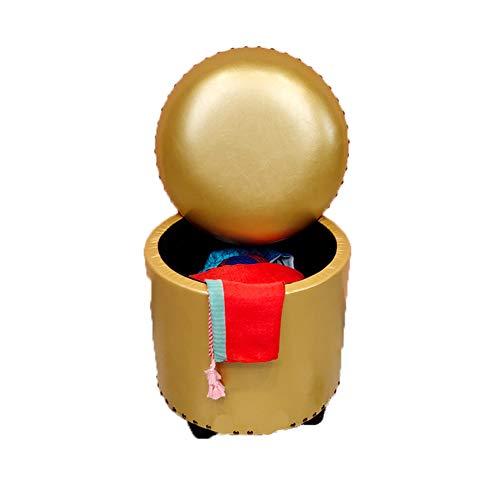 Opbergdozen Ottomaanse volwassenen voetenbank rust ronde vorm voetenbank & poef multifunctionele waterdichte krukken stoel voor woonkamer slaapkamer