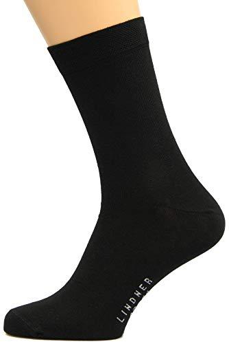 10 Paar hochwertige Socken für Herren | Strapazierfähige Herrensocken aus Baumwolle in verschiedenen Größen | Wollsocken und Strümpfe von Max Lindner Qualitätssocken seit 1921 (42-44, schwarz)