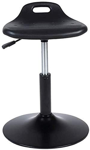 WENJIA Bar Stool Black Lift Stool, PU Seat 360 ° Swivel Chair School Office Workshop Checkout Counter Bar Stool Hotel Coffee Shop Counter Stool (Color : C, Size : 35 * 45-55CM)